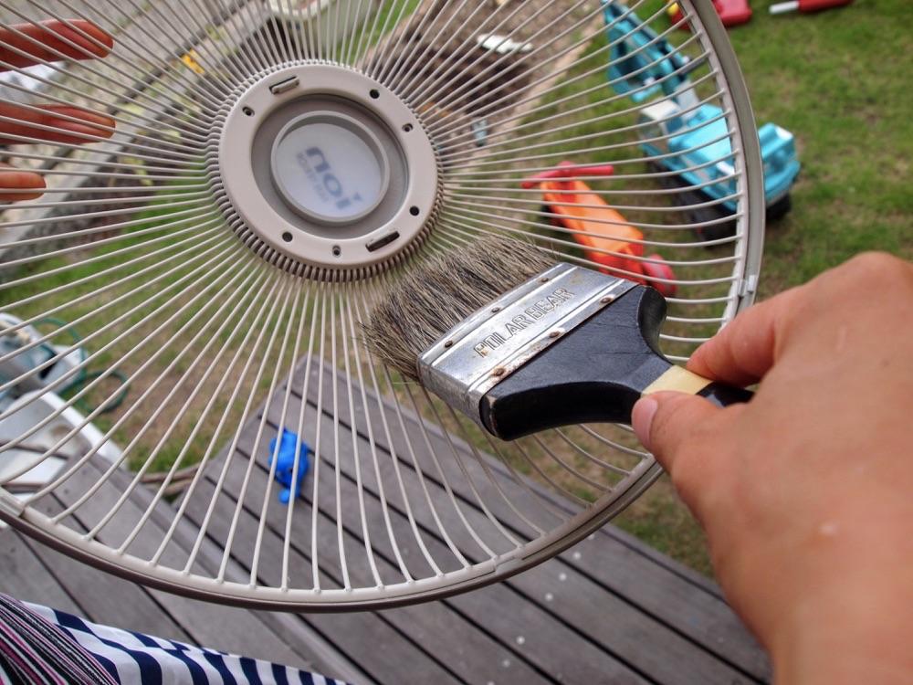 扇風機掃除